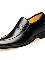 Недорогие -Муж. Официальная обувь Кожа Весна лето Английский Мокасины и Свитер Высота возрастающей Черный / Коричневый / на открытом воздухе