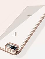 Недорогие -Кейс для Назначение Apple iPhone XS / iPhone XR / iPhone XS Max Защита от удара / Покрытие / Прозрачный Кейс на заднюю панель Однотонный Мягкий ТПУ