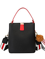 cheap -Women's Polyester / PU Top Handle Bag Solid Color Black / Red