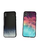 Недорогие -чехол для яблока iphone xs max / модель iphone 8 plus / противоударная задняя крышка из закаленного стекла / тпу для iphone 7 / iphone 6 plus / iphone 6s / iphone xs / iphone xr