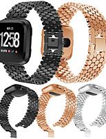 Недорогие -Ремешок для часов для Fitbit Versa / Fitbit Versa Lite Fitbit Спортивный ремешок Нержавеющая сталь Повязка на запястье