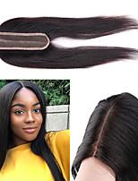 Недорогие -Laflare Бразильские волосы Лента спереди Прямой Средняя часть Швейцарское кружево Натуральные волосы Жен. Женский / Удлинитель / Лучшее качество На каждый день / Повседневные / Официальные / Черный