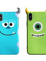 Недорогие -чехол для яблока iphone xs max / iphone 8 plus противоударная задняя крышка мультяшный мягкий тпу для iphone 7/7 plus / 8/6/6 plus / xr / x / xs