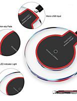 Недорогие -Беспроводное зарядное устройство для Samsung Galaxy S9 S8 Plus ультратонкий кристалл база быстрой зарядки для мобильного телефона Iphone XS Max X 8 Plus