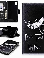 Недорогие -Кейс для Назначение Apple iPhone XS / iPhone XR / iPhone XS Max Кошелек / Бумажник для карт / со стендом Чехол Слова / выражения Твердый Кожа PU