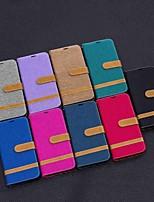 Недорогие -Кейс для Назначение Huawei Huawei P30 / Huawei P30 Pro / Huawei P30 Lite Кошелек / Защита от удара / со стендом Чехол Плитка Твердый текстильный