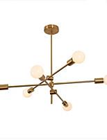 Недорогие -6-Light Спутник Люстры и лампы Рассеянное освещение Электропокрытие Металл 110-120Вольт / 220-240Вольт