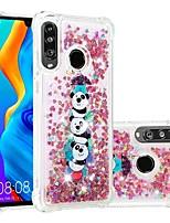 Недорогие -Кейс для Назначение Huawei Huawei P20 / Huawei P20 Pro / Huawei P20 lite Защита от удара / Движущаяся жидкость / Прозрачный Кейс на заднюю панель Сияние и блеск / Панда Мягкий ТПУ / P10 Lite