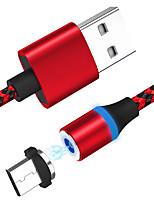 Недорогие -Type-C Кабель 1.0m (3FT) Магнитный / Высокая скорость / Быстрая зарядка Алюминий / Нейлон / TPE Адаптер USB-кабеля Назначение Samsung / Huawei / Nokia