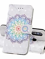 Недорогие -Кейс для Назначение SSamsung Galaxy A6 (2018) / A6+ (2018) / Galaxy A7(2018) Кошелек / Бумажник для карт / Защита от удара Чехол Цветы Твердый Кожа PU