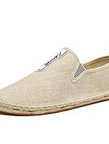 Недорогие -Муж. Комфортная обувь Полиуретан Лето Мокасины и Свитер Черный / Красный / Хаки / на открытом воздухе