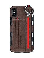 Недорогие -чехол для apple iphone 6 / iphone xs max с подставкой / кошельком / держателем карты задняя крышка сплошная твердая кожа pu для iphone 6 / iphone 6 plus / iphone 7