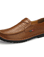 cheap -Men's Formal Shoes Cowhide Spring & Summer / Fall & Winter Casual / British Loafers & Slip-Ons Non-slipping Black / Brown