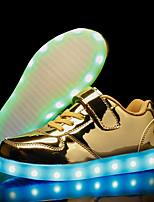 Недорогие -Мальчики Полиуретан Кеды Маленькие дети (4-7 лет) / Большие дети (7 лет +) Обувь с подсветкой Золотой / Серебряный / Розовый Осень