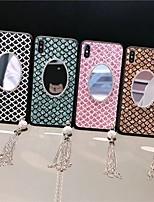 Недорогие -чехол для яблока iphone 8 / iphone x блеск блеск / зеркало задняя крышка блеск блеск мягкий тпу для ip для iphone 6 / iphone 6 plus / iphone 6s для iphone 6 / iphone 6 plus / iphone 6s 7 8plus xs xr