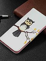 Недорогие -Кейс для Назначение SSamsung Galaxy Galaxy A7(2018) / Galaxy A10 (2019) / Galaxy A30 (2019) Кошелек / Бумажник для карт / со стендом Чехол Животное Твердый Кожа PU