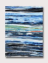 Недорогие -Hang-роспись маслом Ручная роспись - Абстракция Винтаж Modern Без внутренней части рамки