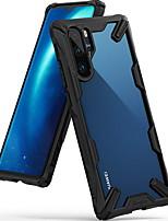 Недорогие -Кейс для Назначение Huawei Huawei P30 Pro Защита от удара Кейс на заднюю панель Однотонный Твердый ПК
