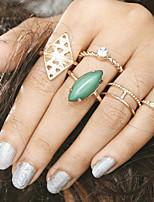 Недорогие -Жен. Цирконий Ring Set европейский Модные кольца Бижутерия Черный / Зеленый / Синий Назначение Свадьба 6шт