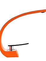 Недорогие -Ванная раковина кран - Широко распространенный Матовый никель / Электропокрытие / Окрашенные отделки По центру Одной ручкой одно отверстиеBath Taps