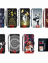 Недорогие -Кейс для Назначение SSamsung Galaxy S9 / S9 Plus / S8 Plus Кошелек / Бумажник для карт / Защита от удара Чехол Животное / Мультипликация / Панда Твердый Кожа PU