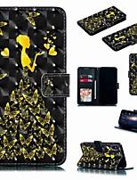 Недорогие -Кейс для Назначение SSamsung Galaxy S9 / S9 Plus / S8 Plus Кошелек / Бумажник для карт / Защита от удара Чехол Бабочка / Соблазнительная девушка Твердый Кожа PU