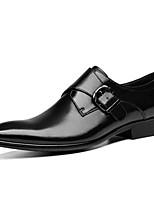Недорогие -Муж. Официальная обувь Полиуретан Весна лето Мокасины и Свитер Ботинки Черный / Коричневый / Винный