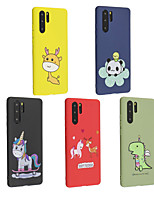Недорогие -Кейс для Назначение Huawei Huawei P20 / Huawei P20 Pro / Huawei P20 lite Матовое / С узором Кейс на заднюю панель Животное / Мультипликация Мягкий ТПУ