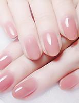 cheap -24pcs Plastics Matte Creative False Nails Jelly powder round fake nails wearing manicure patch finished manicure patch