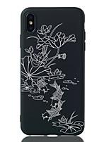 Недорогие -Кейс для Назначение Apple iPhone XS / iPhone XR / iPhone XS Max Защита от удара / С узором Кейс на заднюю панель Цветы Мягкий ТПУ