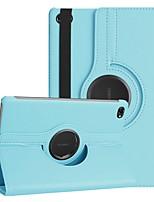 Недорогие -Кейс для Назначение Huawei Huawei Mediapad M5 Lite 10 / MediaPad M5 10 (Pro) / MediaPad M5 10 Поворот на 360° / Защита от удара / со стендом Чехол Однотонный Твердый Кожа PU