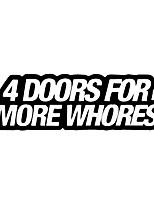 Недорогие -4 двери для более шлюх крутые буквы модные наклейки