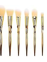 Недорогие -профессиональный Кисти для макияжа 7pcs Мягкость Закрытая чашечка Кисть из синтетических волокон Пластиковый корпус за Инструменты для макияжа Косметическая кисточка