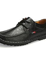 abordables -Homme Chaussures Formal Cuir Printemps été / Automne hiver Simple / Britanique Oxfords Ne glisse pas Noir / Marron