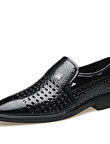 cheap -Men's Summer Casual Outdoor Loafers & Slip-Ons Walking Shoes Microfiber Breathable White / Black / Brown
