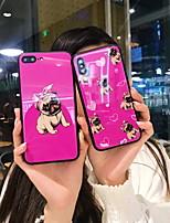 Недорогие -Кейс для Назначение Apple iPhone XS / iPhone XR / iPhone XS Max С узором Кейс на заднюю панель Мультипликация Твердый Закаленное стекло