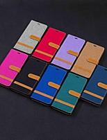 Недорогие -Кейс для Назначение SSamsung Galaxy Note 9 / Note 8 Кошелек / Бумажник для карт / со стендом Чехол Плитка Твердый текстильный