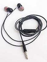 Недорогие -litbest металлический наушник ys-04, проводной в ухе, сильный бас с микрофоном с регулятором громкости, штекер 3,5 мм для мобильных телефонов
