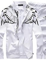 Недорогие -Муж. Спортивный костюм Тренировочный костюм Виды спорта Мода Куртка и спортивные штаны Бег Спортивная одежда Дышащий Слабоэластичная Свободный силуэт