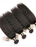Недорогие -4 Связки Бразильские волосы Естественные прямые 100% Remy Hair Weave Bundles Человека ткет Волосы Пучок волос Накладки из натуральных волос 8-28 дюймовый Естественный цвет Ткет человеческих волос