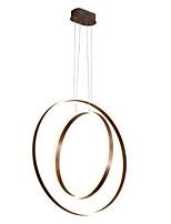Недорогие -LED 90 Вт современная люстра / 2 кольца потолочная лампа для столовой кафе-бар, окрашенный алюминием / теплый белый / белый / с возможностью затемнения с пультом дистанционного управления / Wi-Fi