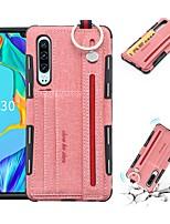 Недорогие -Кейс для Назначение Huawei Huawei P30 / Huawei P30 Pro / Huawei Mate 20 lite Бумажник для карт / Защита от удара Кейс на заднюю панель Однотонный Мягкий ТПУ