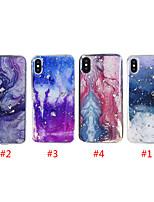 Недорогие -чехол для яблока iphone xs max / iphone 8 plus pattern / противоударная задняя крышка мрамор / небесно-мягкий тпу для iphone 7/7 plus / 8/6/6 plus / xr / x / xs