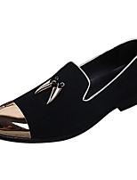 Недорогие -Муж. Обувь для новинок Наппа Leather Весна / Наступила зима На каждый день / Английский Мокасины и Свитер Нескользкий Черный / Для вечеринки / ужина