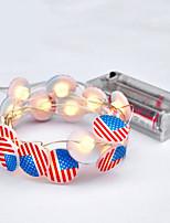 Недорогие -3 м американский флаг гирлянды для сша американский день независимости / партия / праздник / фестиваль украшения 30 светодиоды теплый белый декоративные 5 В 1 компл.