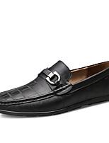 Недорогие -Муж. Официальная обувь Кожа Весна лето Деловые Мокасины и Свитер Сохраняет тепло Черный / Коричневый