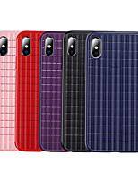 Недорогие -Кейс для Назначение Apple iPhone XS / iPhone XR / iPhone XS Max Защита от удара Кейс на заднюю панель Однотонный Мягкий ТПУ / силикагель