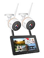 Недорогие -Hiseeu 8-канальный 1080p беспроводной видеонаблюдения система безопасности 2-мегапиксельная ик-запись звука ip-камера водонепроницаемый wifi nvr kit видеонаблюдения
