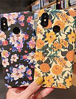 Недорогие -Кейс для Назначение Xiaomi Xiaomi Redmi Note 5 Pro / Xiaomi Redmi Note 7 / Xiaomi Mi Max 3 Матовое / С узором Кейс на заднюю панель Цветы Твердый ПК