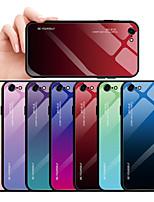 Недорогие -Кейс для Назначение Apple iPhone 8 Pluss / iPhone 8 / iPhone 7 Plus Защита от пыли / Защита от влаги Кейс на заднюю панель Градиент цвета Твердый Закаленное стекло